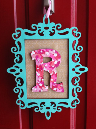 Valentine's Day Letter Decoration - paper flowers on letter