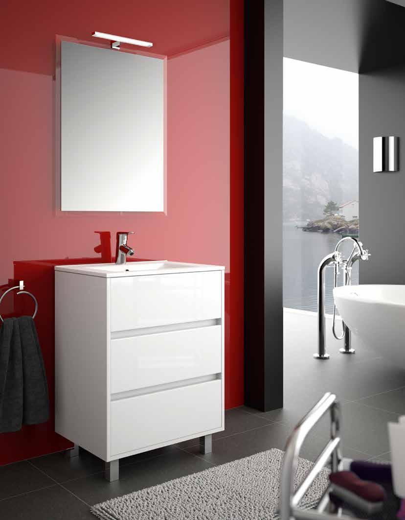 meuble salle de bain a pied sol