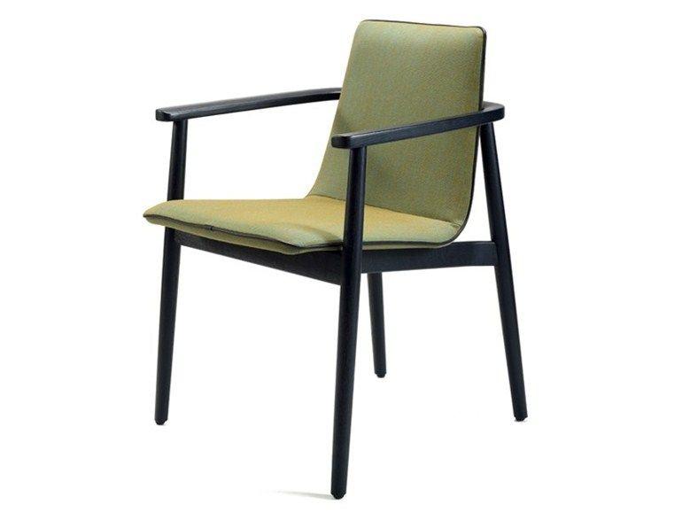 Chaise Rembourree En Tissu Avec Accoudoirs Jana Freifrau Chair Fabric Chair Wooden Frames