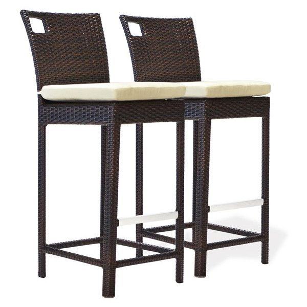 sydney gathering outdoor synthetic rattan wicker counter bar stools