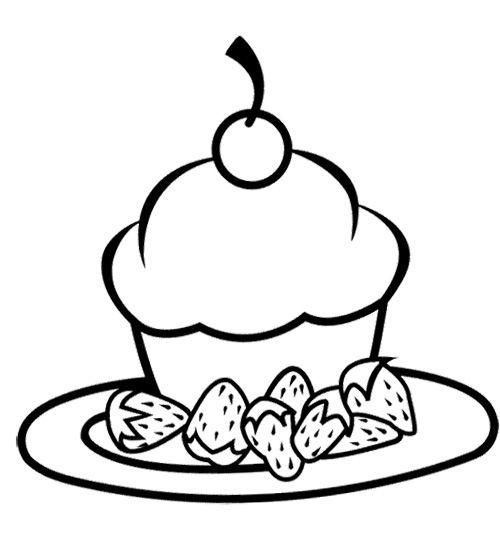 Strawberry Cupcake Coloring Page Cupcake Coloring Pages Coloring Pages Color