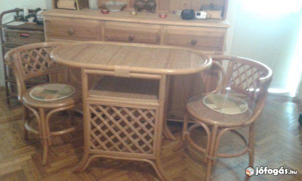 Eladó Rattan reggeliző asztal és székek: Eladó a képen látható ...