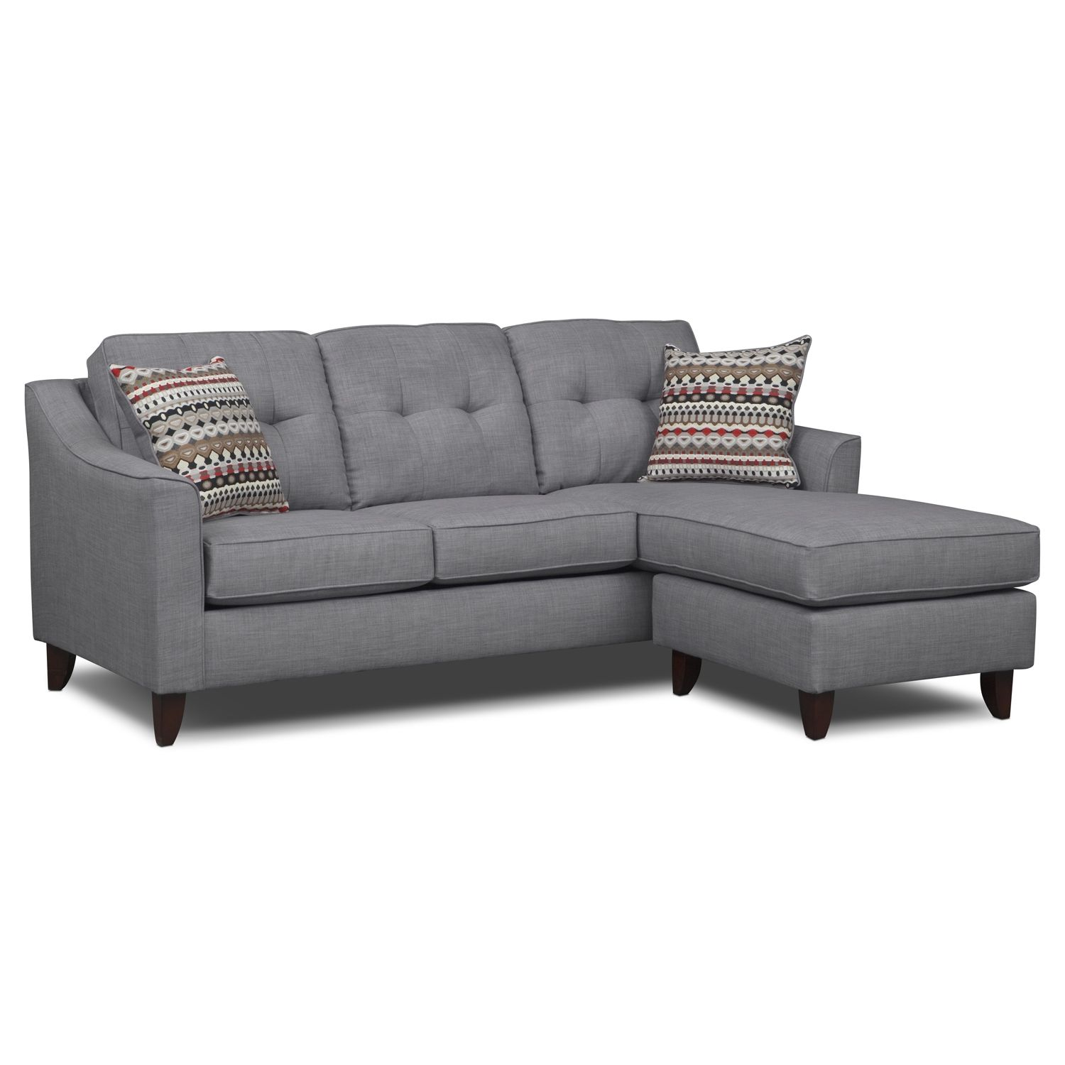 value city furniture marco chaise sofa bett leather living room cheep 499 99
