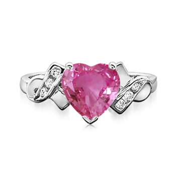 Angara Heart Sapphire and Diamond Earrings in Platinum WkocWru3