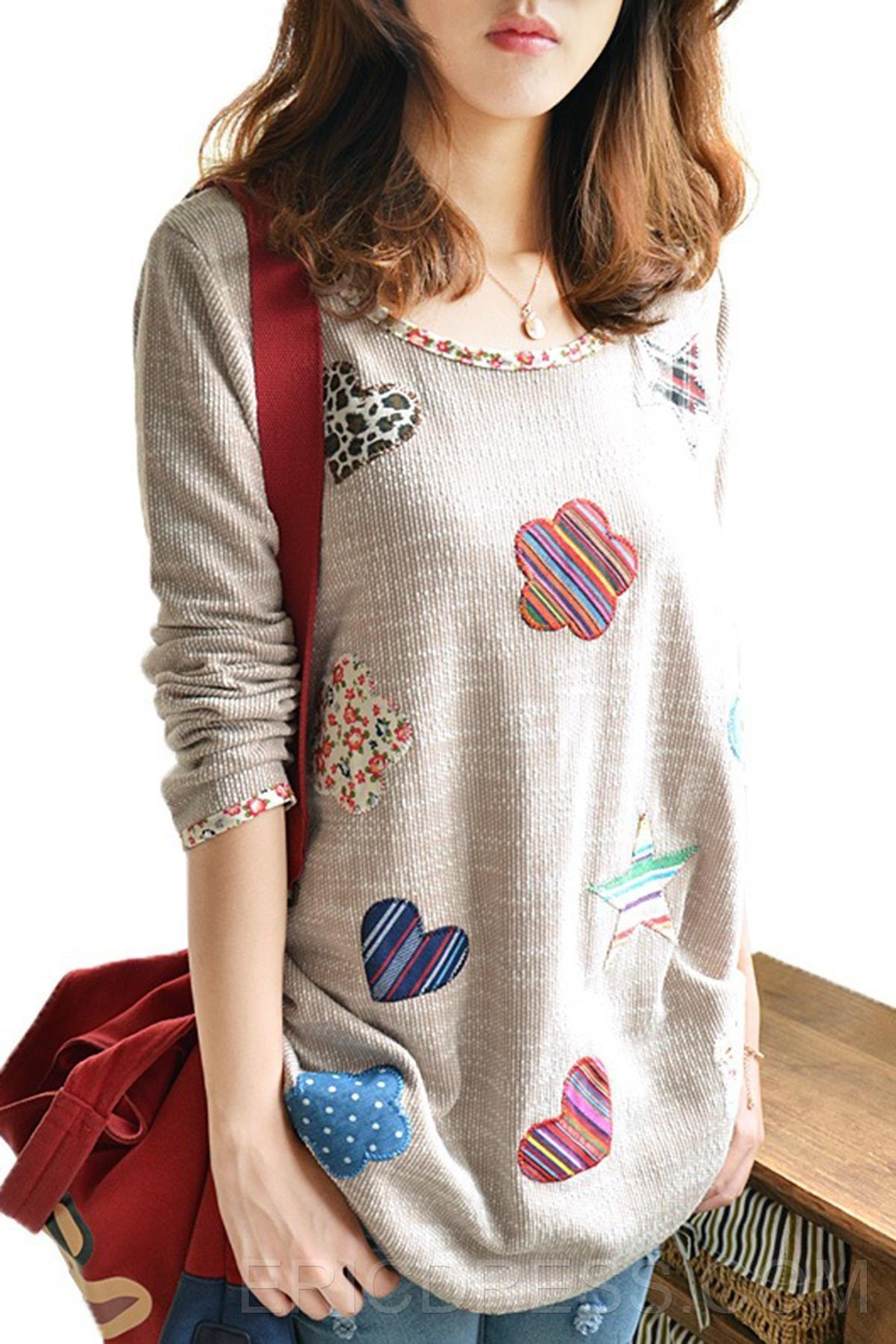 Ericdress Geometric Print Plus Size Knitwear  Knitwear