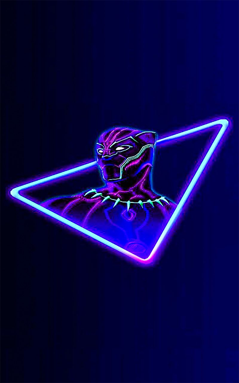 Neon SuperHero Wallpaper For Android