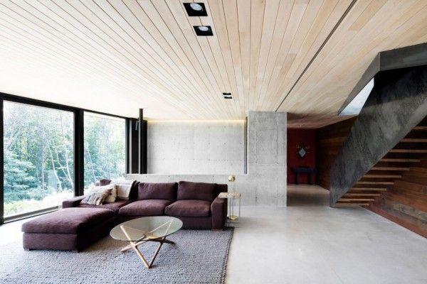 La Heronniere - Maison d\u0027architecte au Quebec Salons, Interiors