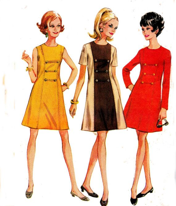 womens vintage 1960s sewing pattern by. Black Bedroom Furniture Sets. Home Design Ideas