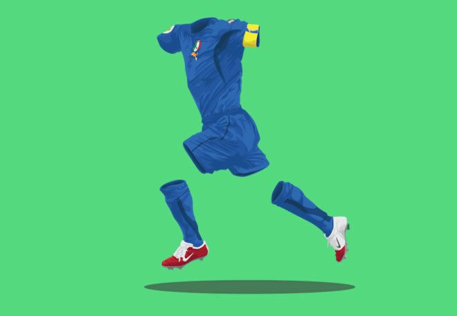 Italy 2006 football kit illustration