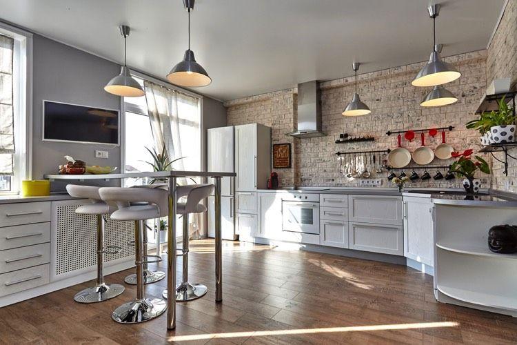 la cuisine avec la brique est nouveau tendance brique rouge blanche beige