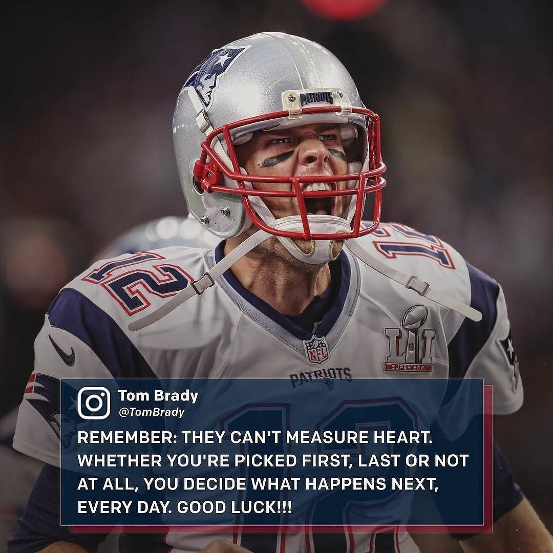Draft day message from TB12   Patriots Football   Football helmets