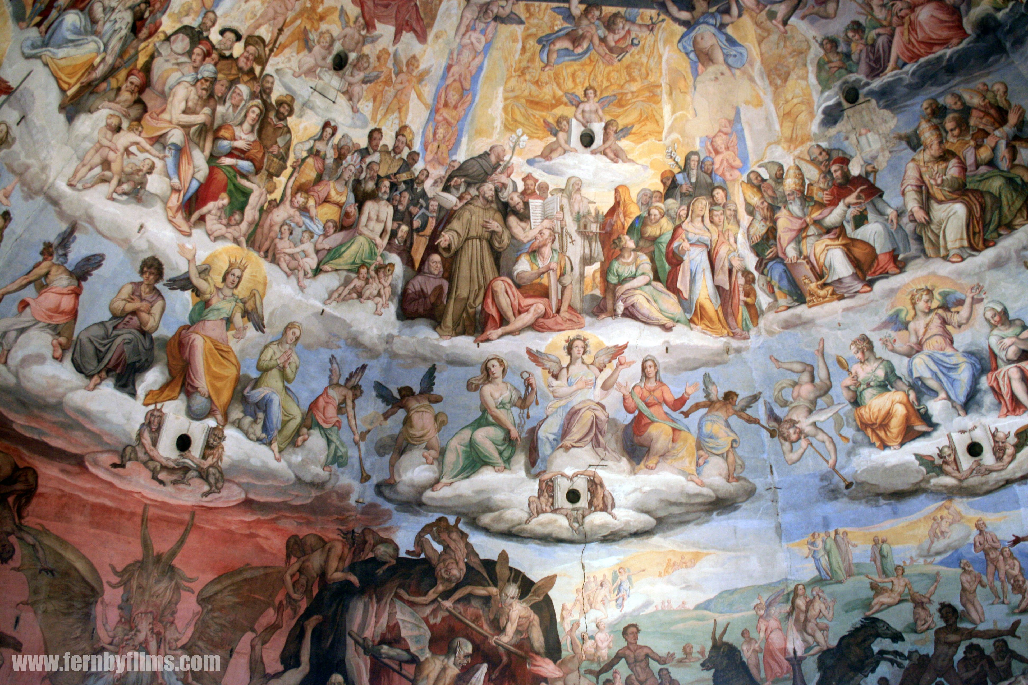 Italian Florence: Photo Of Interior Art, Duomo, Florence, Italy