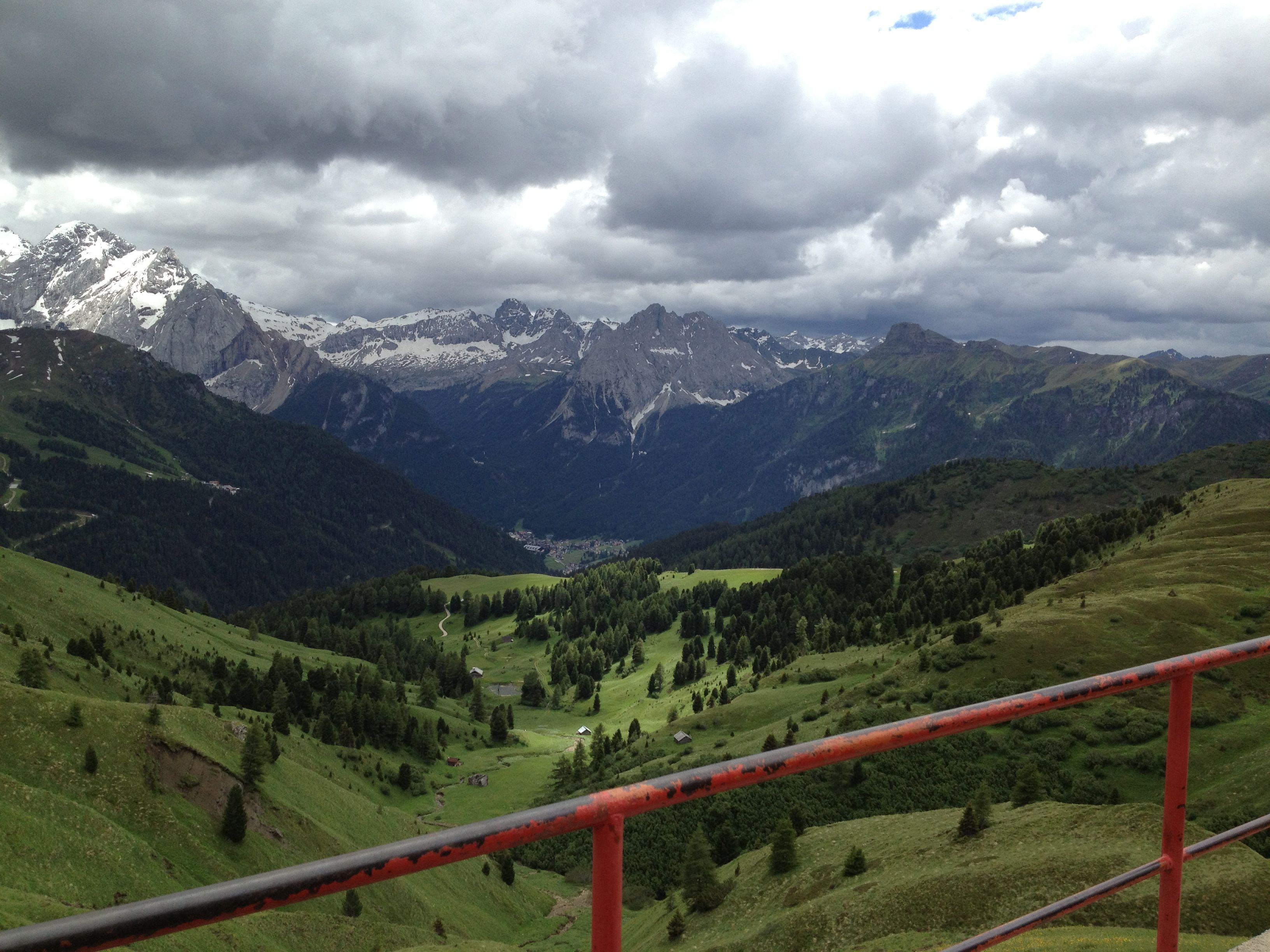 Near Bolzano Italy with the Dolamite Mts. in the background.