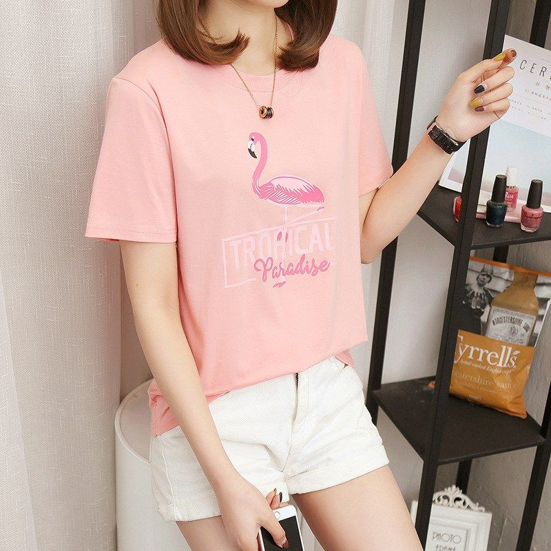 c86d1916a6b New Korean version of the cartoon wild short-sleeved T-shirt youthful style  tshirt