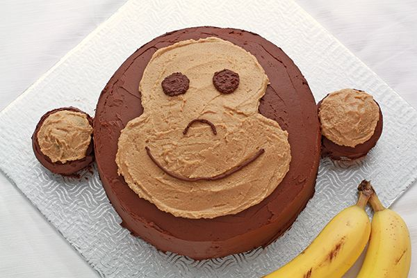 Monkey cake Banana cake with chocolate ganache and peanut butter