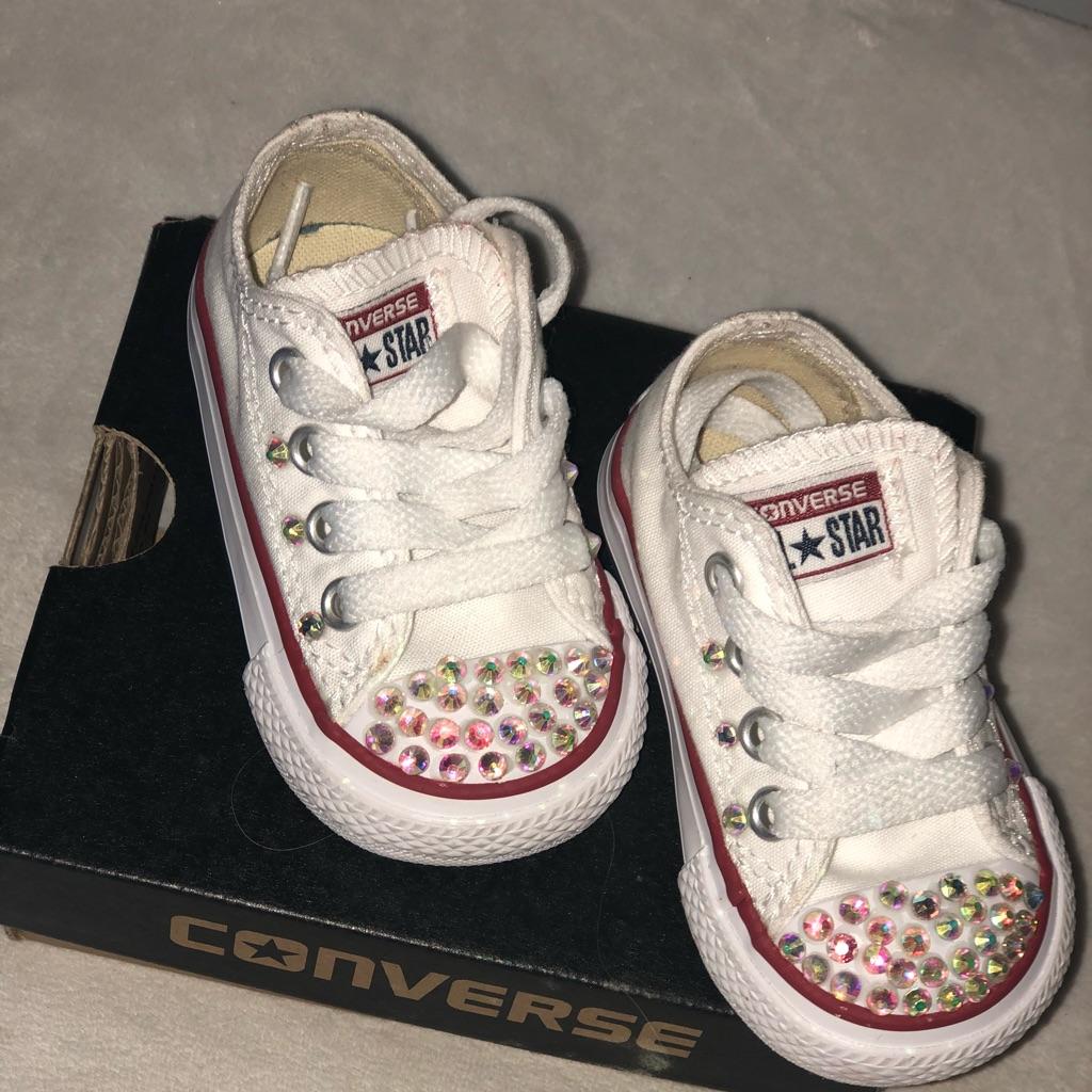 Converse Shoes   Girls Glitz White Converse Pageant Size 3