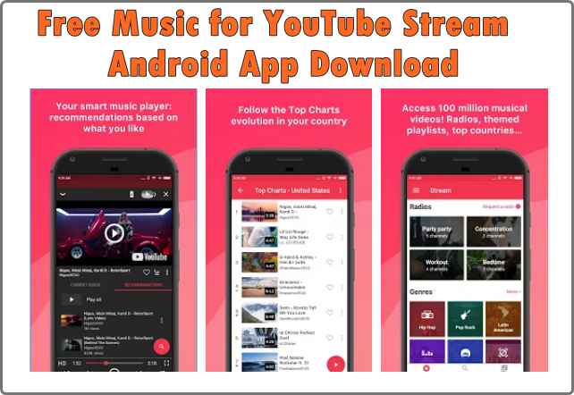 Free Music for YouTube Stream: Android App Download | Free