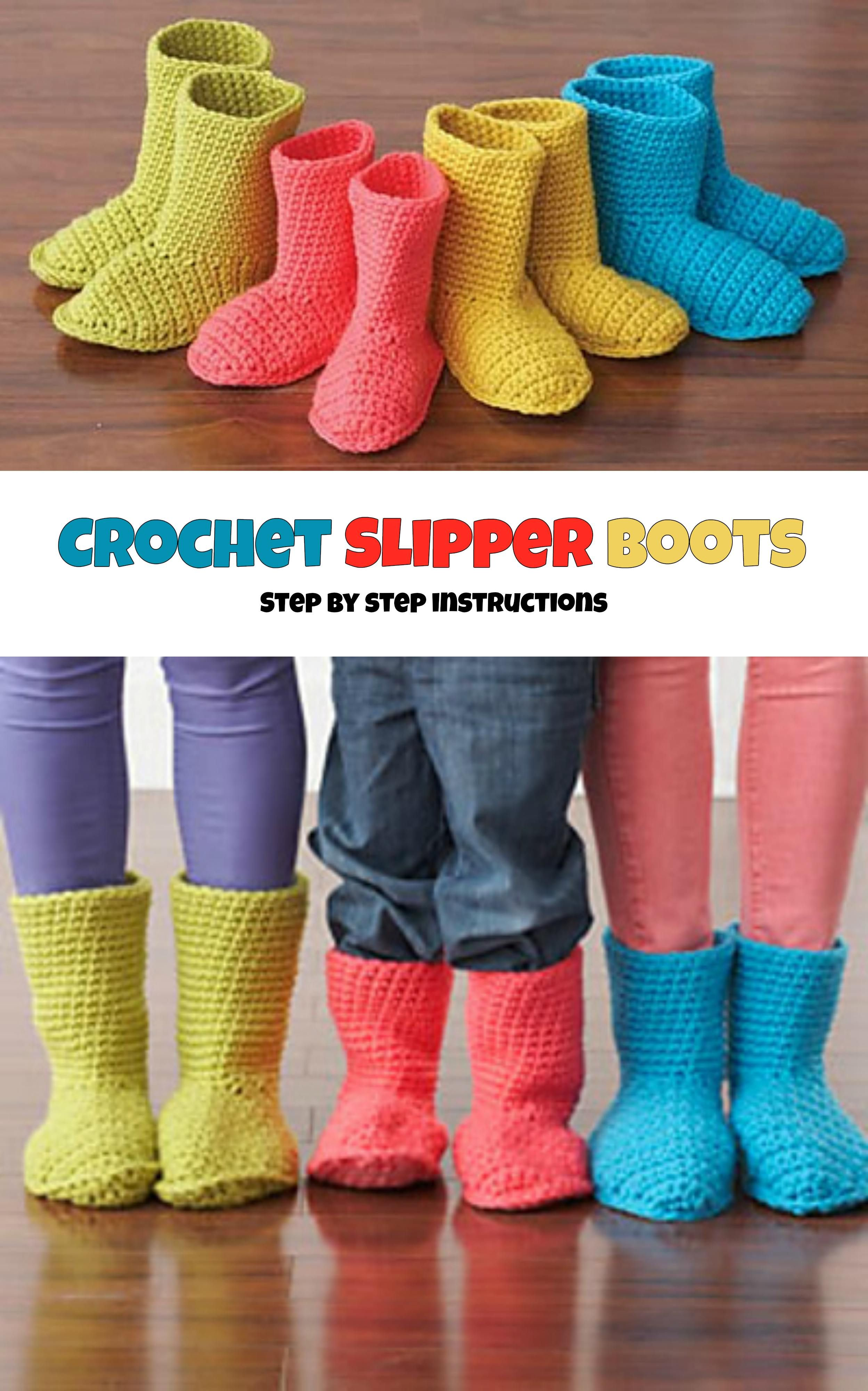 Crochet Slippers Boots | Knitting clothes | Pinterest | Zapatillas ...