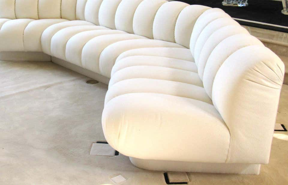 For Sale On 1stdibs Channel Tufted Modern Sectional Sofa By