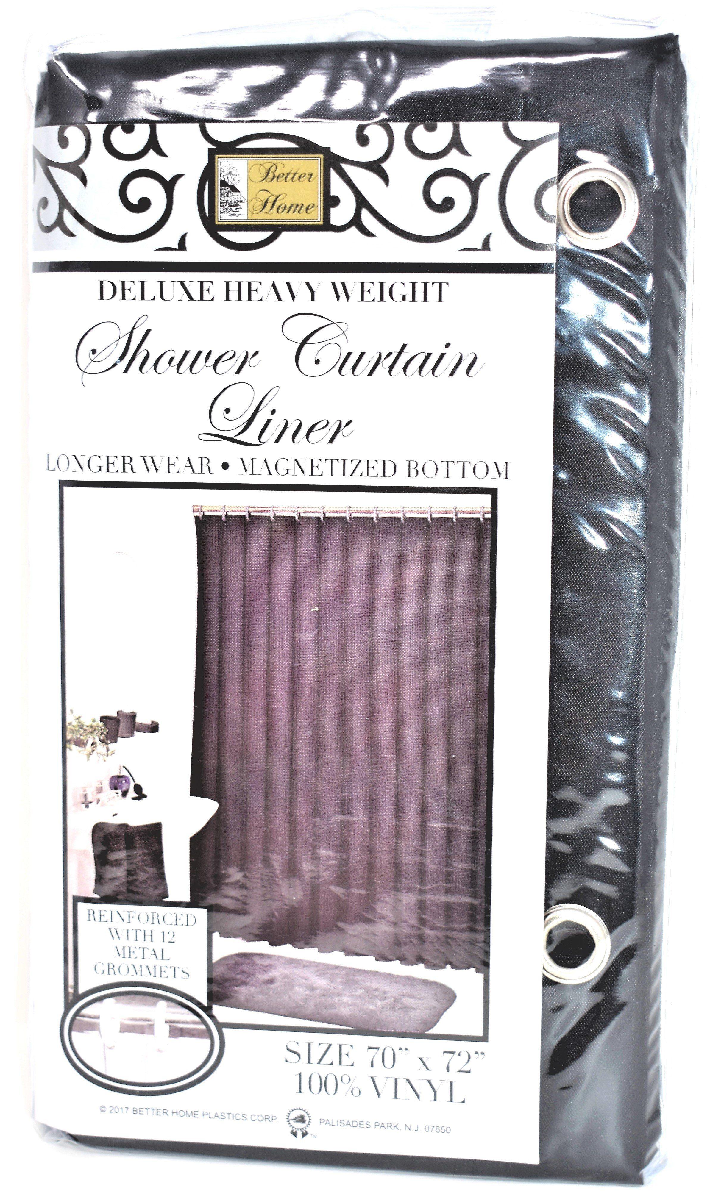 Deluxe Heavy Weight 100 Vinyl Shower Curtain Liner 70 X 72 Black Color Vinyl Shower Curtains Curtains Shower