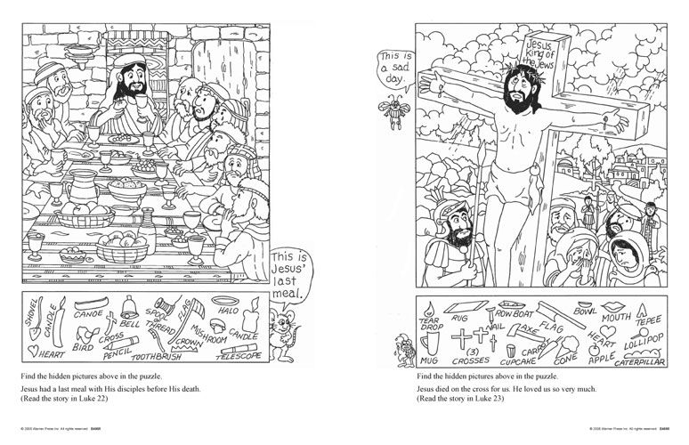 New Testament Hidden Picture Puzzles for 6-10 year olds