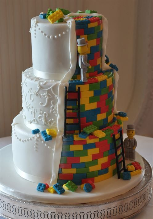 lego wedding cake two | FLEUR~Cake Anyone??? | Lego wedding, Lego