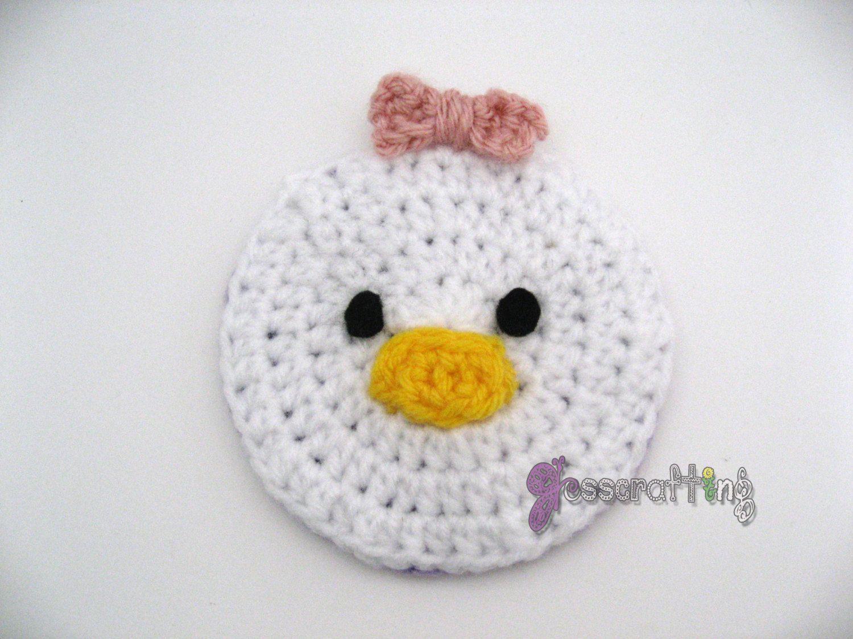 Crochet Daisy Duck Coaster - Disney Tsum Tsum by Jesscrafting on ...