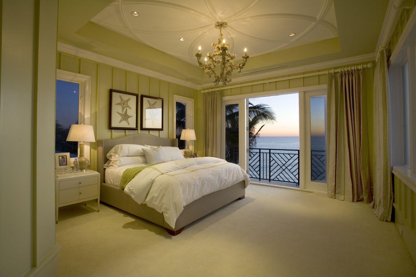 This stunning beach-themed guest bedroom was completed by ...