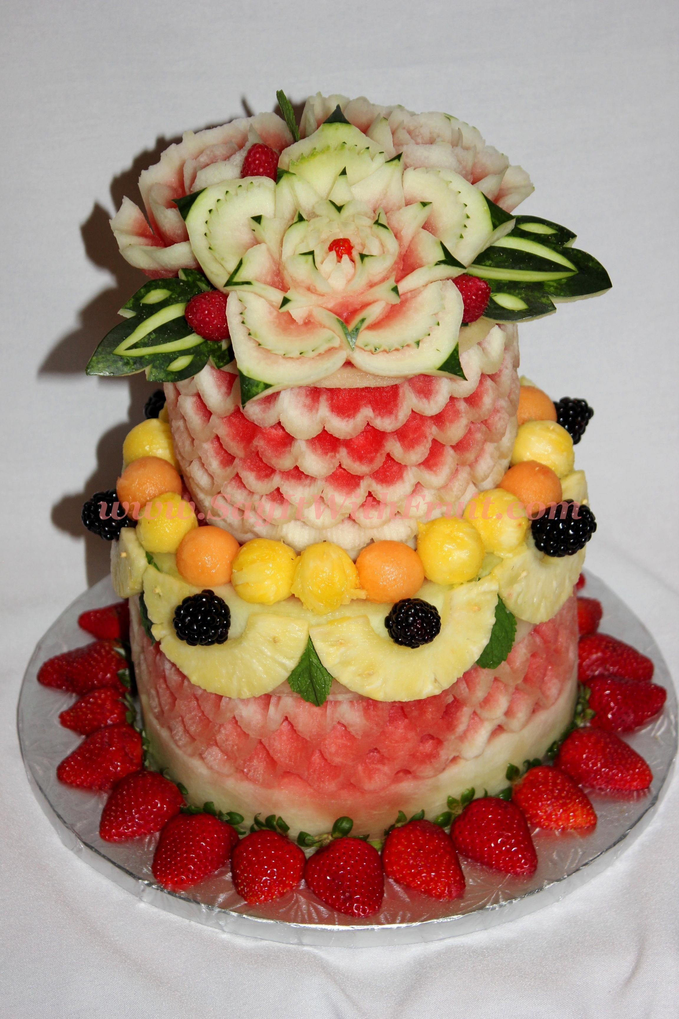 Watermelon double tier cake