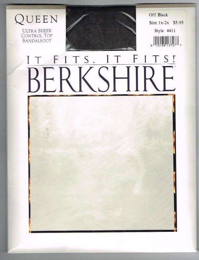 5f7a12bb7e Berkshire Queen Pantyhose Stockings 4411 Off Black 1X 2X Sheer Control Top  1994 #Berkshire #Sheer