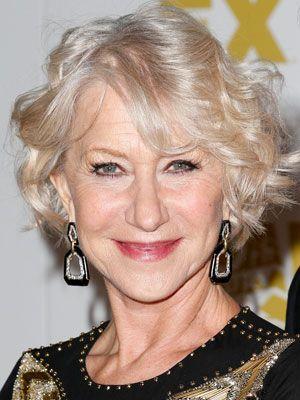 Helen Mirren thinning hair women celebrity hair styles