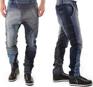 ABSOLUT JOY Herren Stylische Loose-Fit Multicolor Jeans Hose S-M-L-XL | eBay