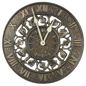 Whitehall Analog Round Outdoor Wall Garden Clock 01834