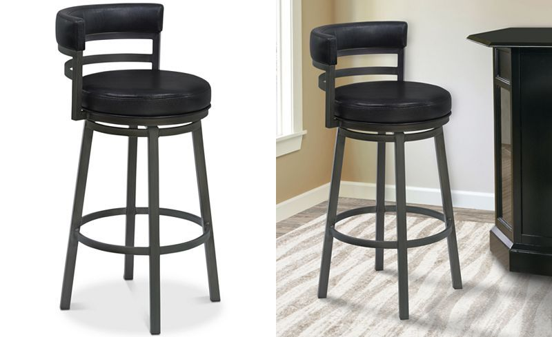 5west Haven 30 Bar Stool Leather Counter Stools Bar Stools Leather Bar Stools