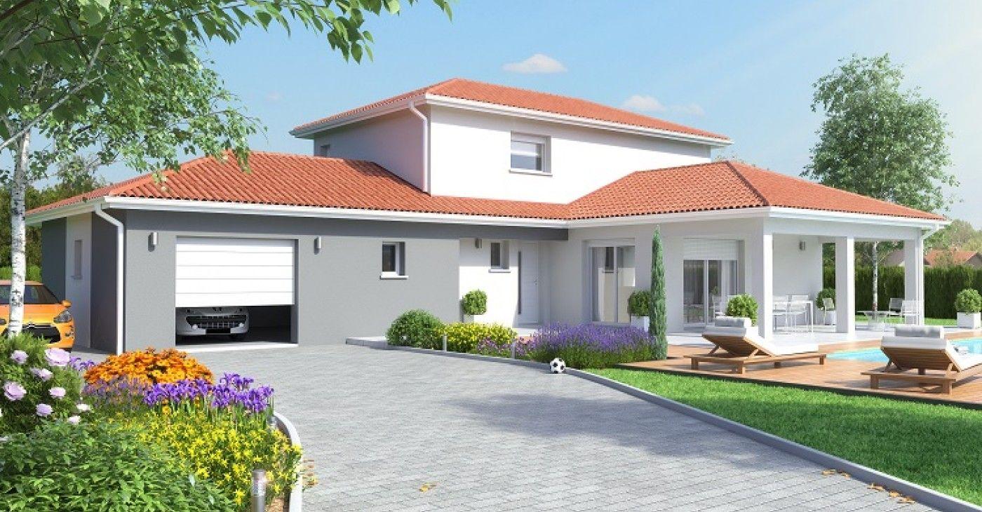 maison 3 volumes maisons id ales plan pinterest id al maisons et plans maison. Black Bedroom Furniture Sets. Home Design Ideas