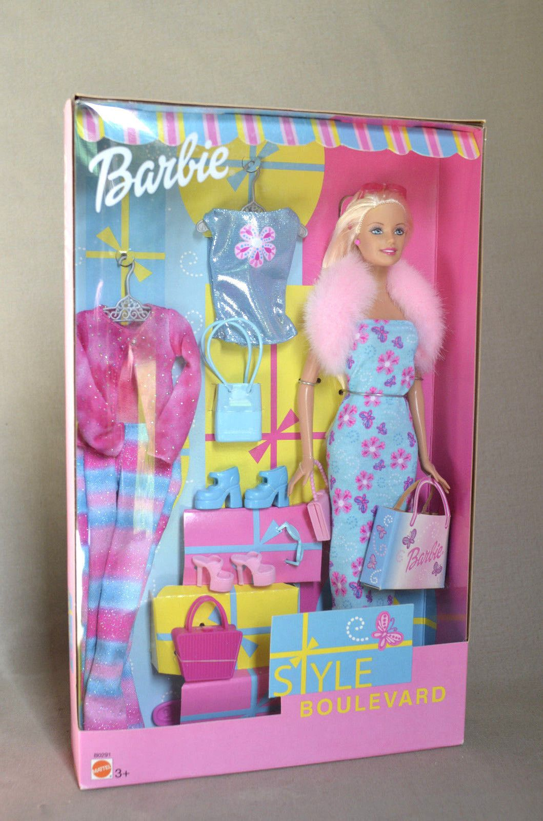 Bd Barbie Style Boulevard Blue Dress Foreign Mattel 80291 Barbie Toys Barbie Fashionista Dolls Barbie