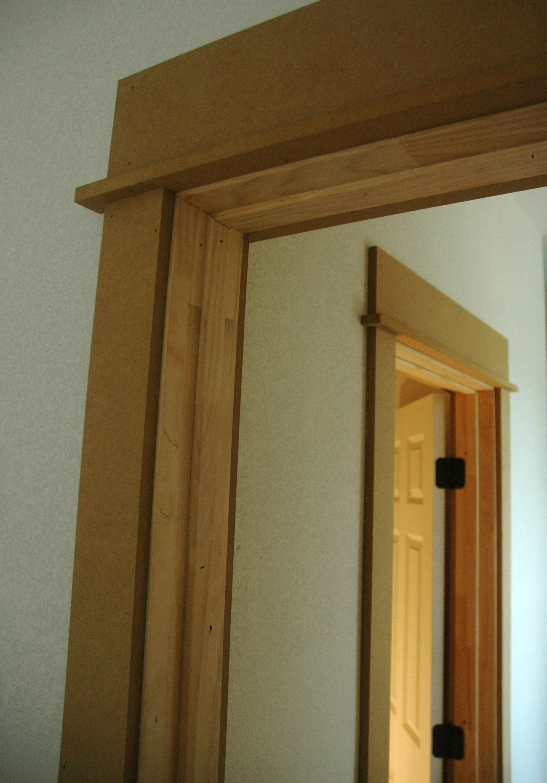 Simple Craftsman Bungalow   Door Header Trim Detail