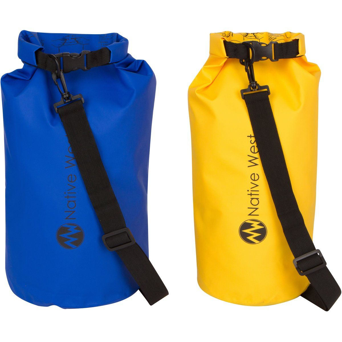 0ea9b3a87df6 Lightweight Compression Dry Bag with Shoulder Strap and Roll Top Closure  System. Waterproof Floating Gear Sack for Boating Kayaking Fishing Rafting  Camping ...
