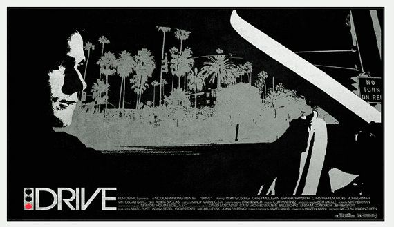 Custom-made DRIVE Noir poster / limited to 50 prints by snafu714