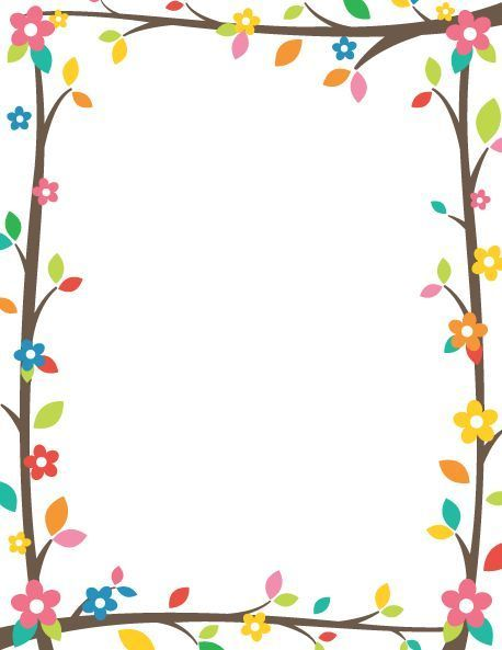 Printable tree branch border use the in microsoft word or other programs for creating also easy chart paper decor corner decoration of papers rh pinterest