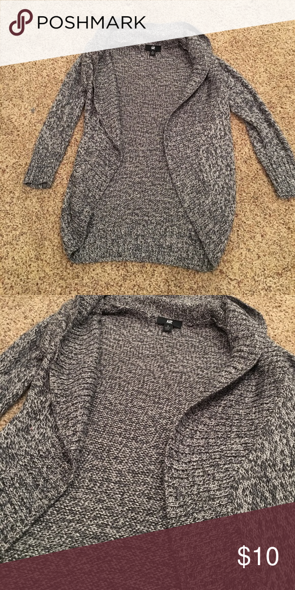 Gray sweater cardigan Gray sweater cardigan. Half sleeve. Never worn Sweaters Cardigans