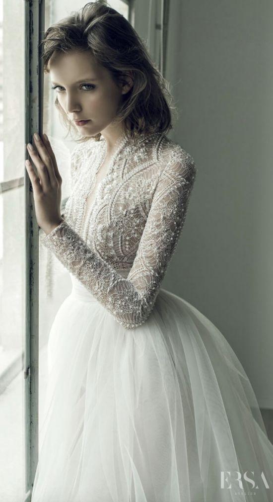 Featured Dress: Ersa Atelier; Wedding dress idea.