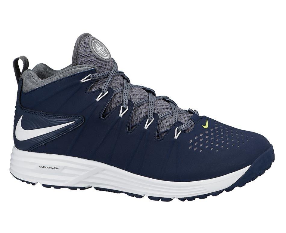 Nike Huarache 4 Lax Mens Dark Grey Blue Sneakers