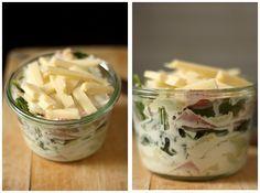 Gratin de ravioles de roman au jambon blanc