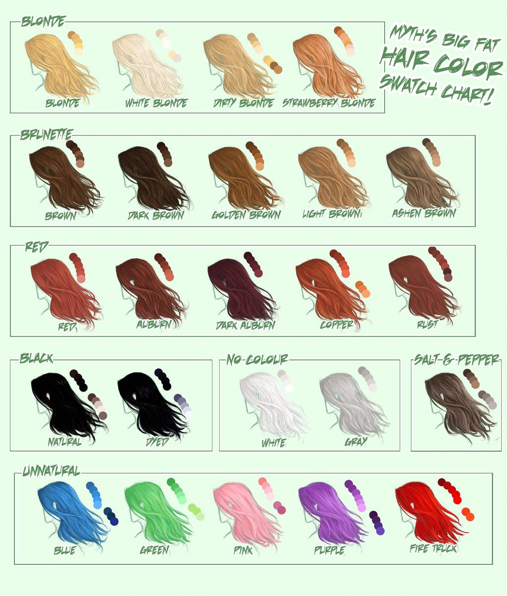 Pin On Hair Color Art