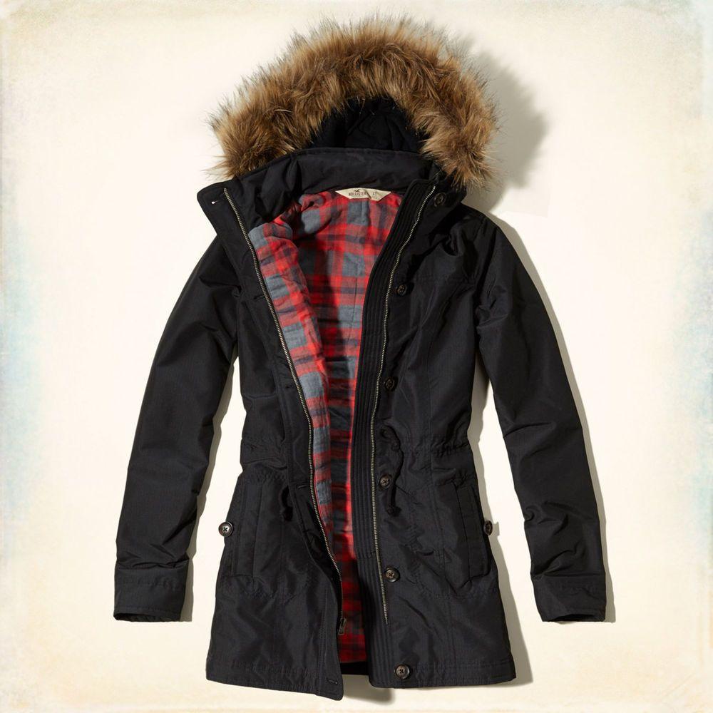 Hollister winterjacke ebay
