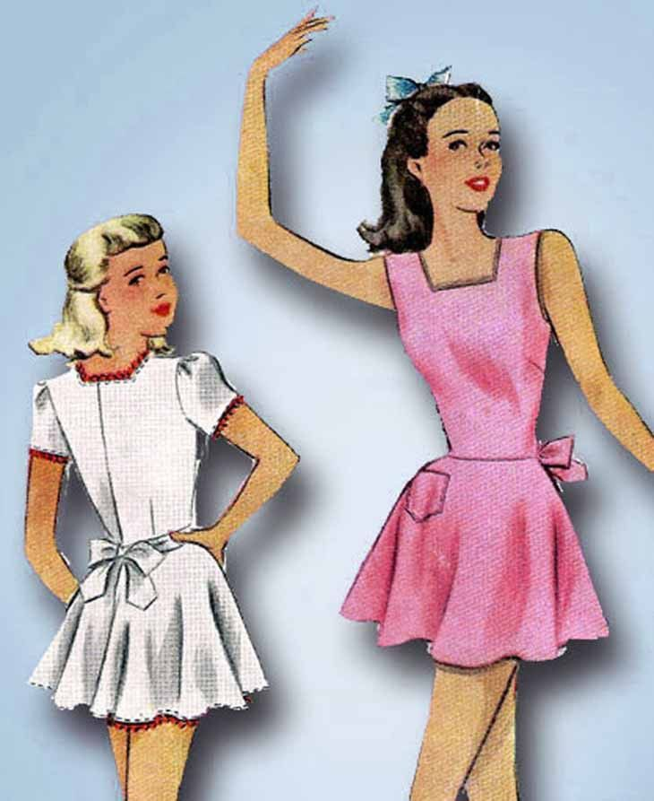 1940s Vintage McCall Sewing Pattern 6620 Little Girls Ballet or ...
