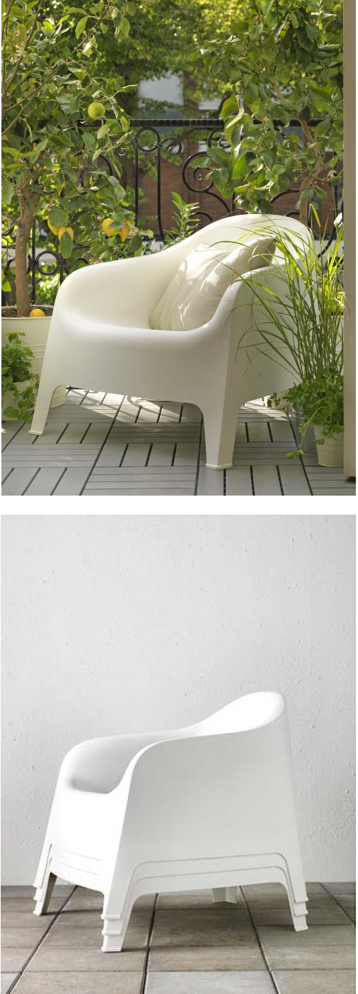 skarp armchair outdoor white balkon spanien und g rten. Black Bedroom Furniture Sets. Home Design Ideas