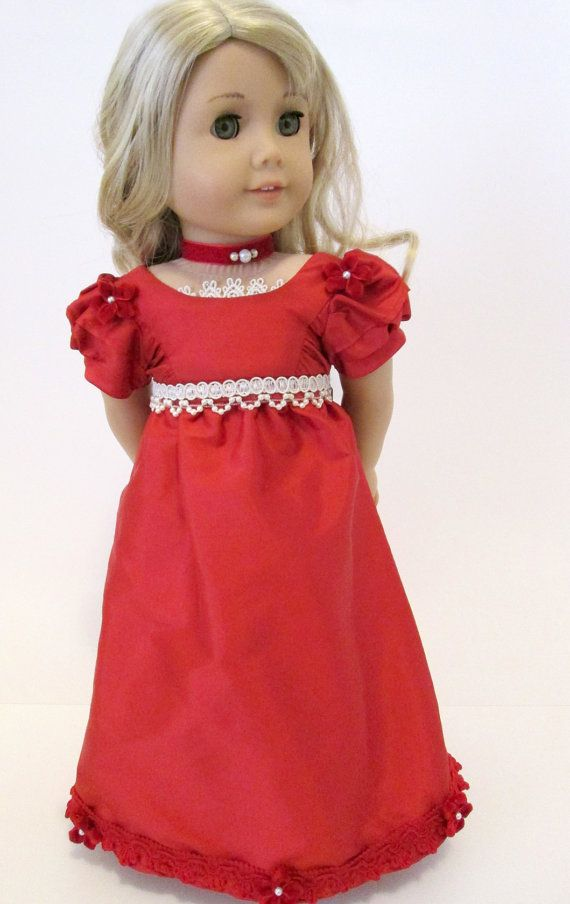 Outlander Claire Red Dress Sew Pattern For 18 Carpatina American Girl Dolls Vintage Pre 1970