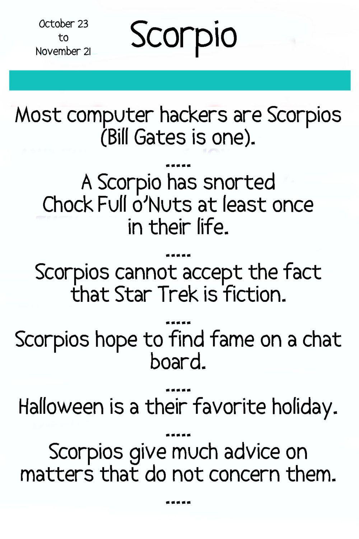 funny horoscopes scorpio